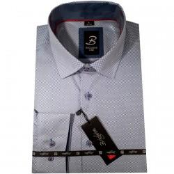 Modrá pánská košile s krátkým rukávem rovný střih Brighton 109953