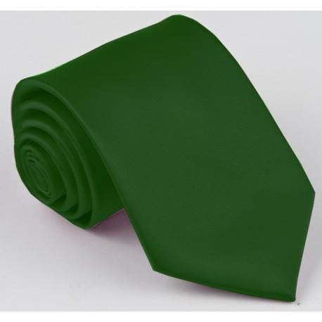 Tmavě zelená kravata jednobarevná Greg 99951