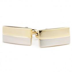 Manžetové knoflíčky stříbrozlaté barvy Assante 90536