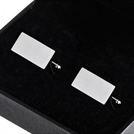 Manžetové knoflíčky stříbrné barvy Assante 90557