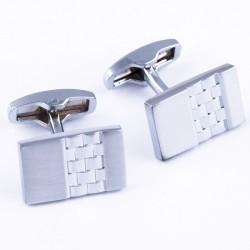 Manžetové knoflíčky stříbrné barvy Assante 90530