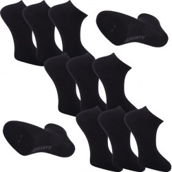 Multipack ponožky 9 párů černé antibakteriální kotníkové Ag Assante 783