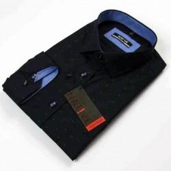 Tmavomodrá pánská košile dlouhý rukáv vypasovaný střih Native 120003