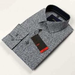 Modrá pánská košile dlouhý rukáv vypasovaný střih Native 120008