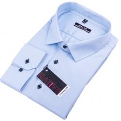 Modrá pánská košile dlouhý rukáv vypasovaný střih Native 120503