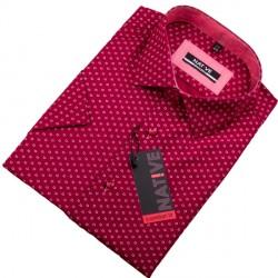 Červená pánská košile s krátkým rukávem Native 120303