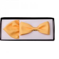 Žlutý motýlek s kapesníčkem Assante 90215