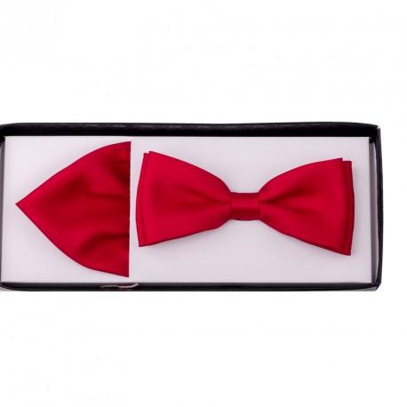 Červený motýlek s kapesníčkem Assante 90217