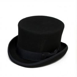 Černý cylindr anglický pánský klobouk 100 % vlna Mes 85019