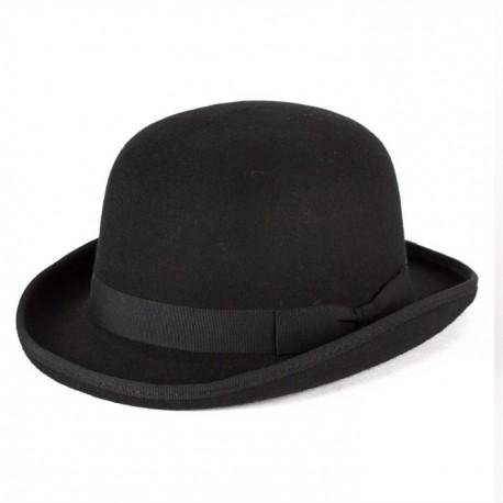 19988537a Černá buřinka pánský klobouk 100 % vlna Mes 85015