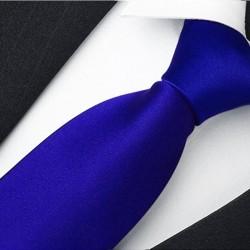 Jednobarevná modrá pánská kravata René Chagal 99983