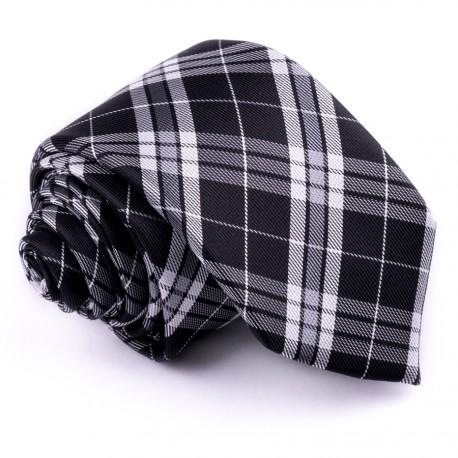 Úzká šedá kravata Greg 99020