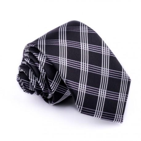Černá slim fit kravata klasická společenská Greg 99040
