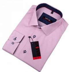 Červená pánská košile vypasovaný střih Native 120013 713e72446f