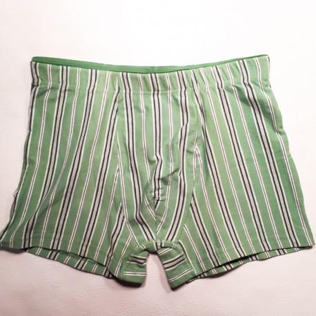 Zelené pánské trenýrky boxerky slipy s nohavičkou Assante 50278