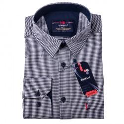 Černobílá košile 100 % bavlna Tonelli 110957