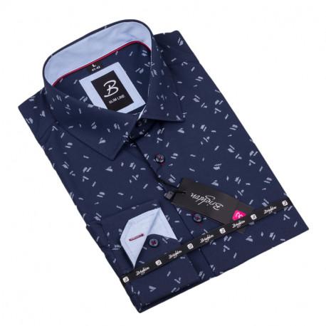 Vzorovaná košile Brighton tmavě modrá 109918