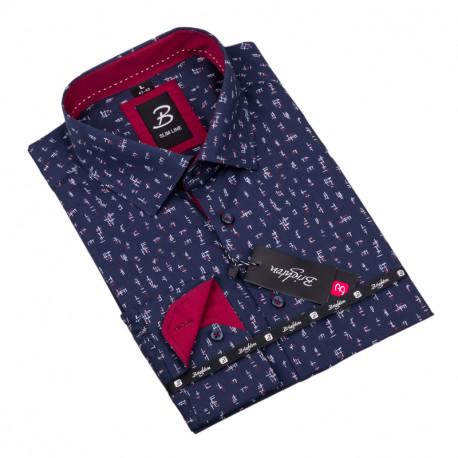 Vzorovaná košile Brighton tmavě modrá 109920