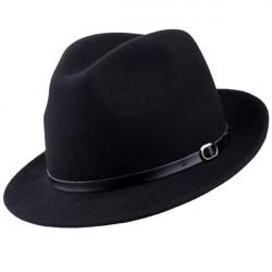 Černý pánský klobouk voděodoný Assante 85007