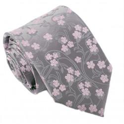 Šedorůžová svatební kravata Greg 91021.