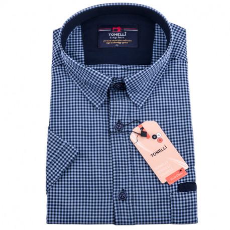 Modročervená kostičkovaná košile Tonelli 110831