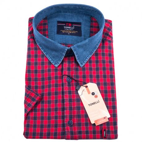 Červenomodrá kostičkovaná košile Tonelli 110833