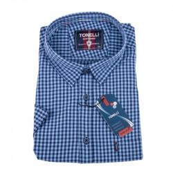 Ocelově modrá košile Tonelli 110850