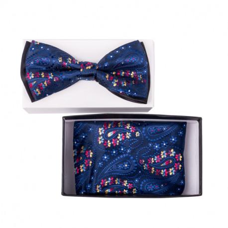 Pánský motýlek barva modrá Assante 90307