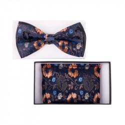 Pánský motýlek barva modrá – zlatá Assante 90332