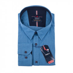 Modrá kostičkovaná košile Tonelli 110984