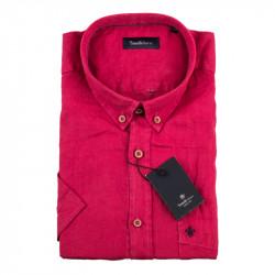 Pánská košile červená krátký rukáv Tonelli 110868