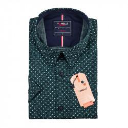 Pánská košile zelená krátký rukáv Tonelli 110878