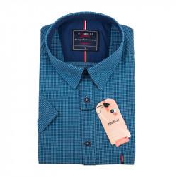 Pánská košile modrá krátký rukáv Tonelli 110881