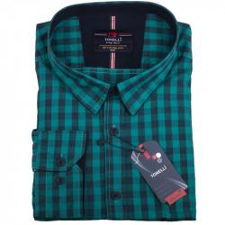 Nadměrná košile zelená dlouhý rukáv Tonelli 110918