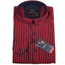 Pánská košile červená dlouhý rukáv Tonelli 110931